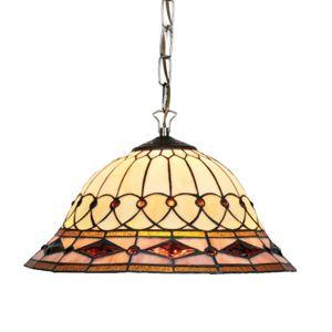 Závěsné světlo Kassandra v Tiffany stylu, 2xE27