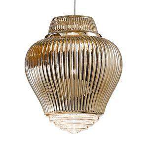Závěsné světlo Clyde 130 cm antická zlatá metalíza