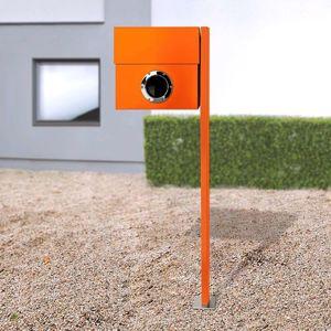 Poštovní schránka Letterman XXL sloupek oranžová