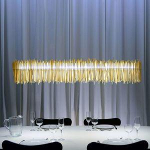 Z hůlek vyrobené závěsné světlo LED Hayashi