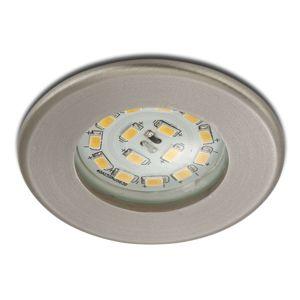 Účinné LED podhledové svítidlo Nikas IP44 nikl