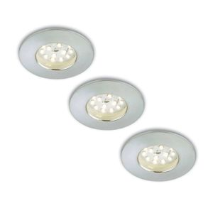 Sada 3 LED podhledových svítidel Nikas IP44 hliník