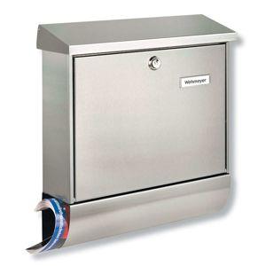 AMRUM nerezová poštovní schránka s přihrádkou