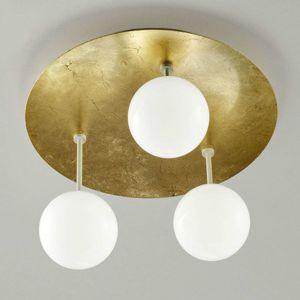 Sfera - pozlacené LED stropní svítidlo