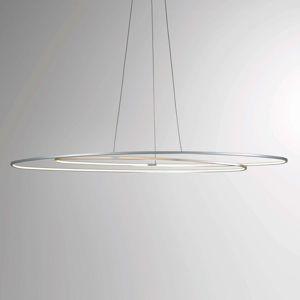 Bopp Flair - oválné závěsné světlo LED, hliník