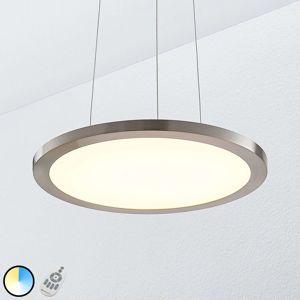 Závěsné LED světlo Tess, 2700-6200K, 40 cm, chrom