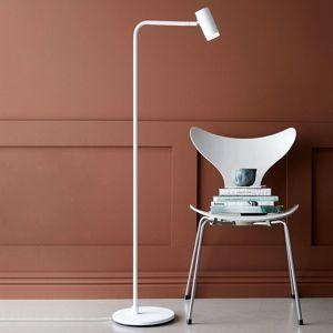 Stojací lampa LED Cato Q se stmívačem, bílá