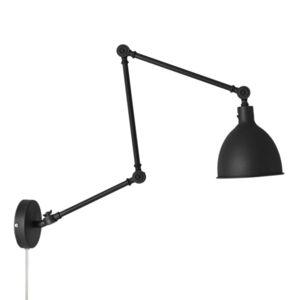 By Rydéns Bazar nástěnné světlo, zástrčka, černé