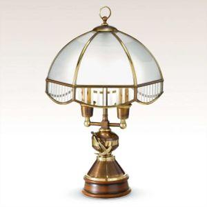 Stolní lampa Laguna se skleněným stínidlem