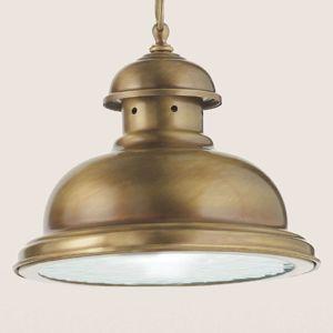 Závěsné světlo Scirocco, 25 cm mosaz satinovaná