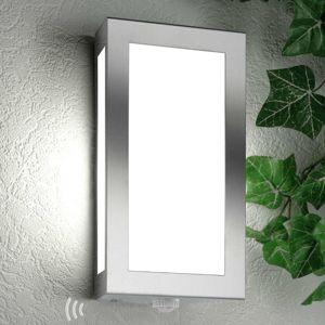 Venkovní nástěnné svítidlo Long z nerezu senzor