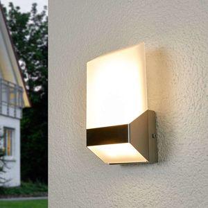 Moderní venkovní nástěnné LED svítidlo Flat, ocel