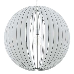 Závěsné světlo Cossano koule 70 cm v bílé barvě