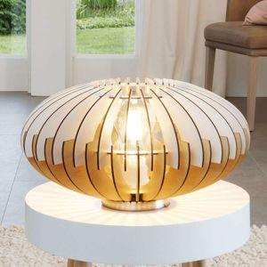 Dekorativní stolní lampa ze dřeva