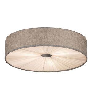 Velké stropní světlo Fungino, šedé