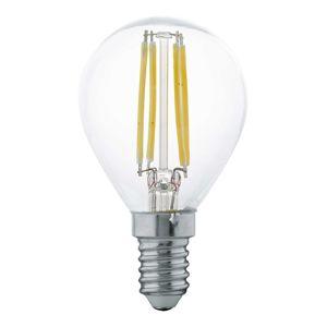 LED žárovka E14 P45 4W, teplá bílá, čirá