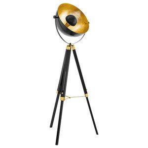 Stojací lampa Covaleda s trojnožkou černá/zlatá