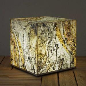 Dekorační krychlové světlo přírodní břidlice 39 cm