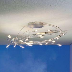 Escale Spin oválné LED stropní svítidlo chrom