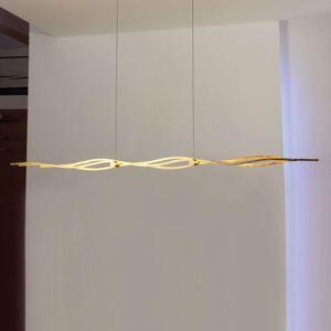 Escale Silk - závěsné světlo LED pozlátko 120cm
