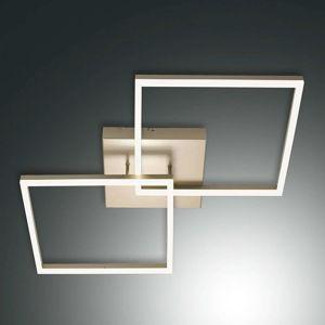 Stropní LED svítidlo Bard ve zlaté barvě