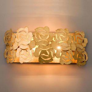 Zlaté nástěnné světlo Genua
