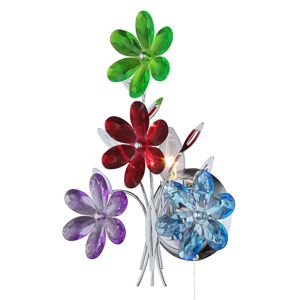Nástěnné svítidlo Flower s pestrými květinami