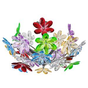 Stropní svítidlo Flower s pestrými květinami