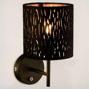 Nástěnné svítidlo Tuxon s černo-zlatým stínidlem