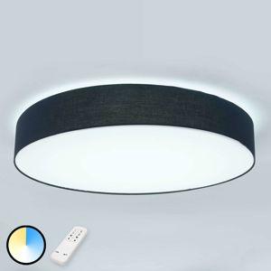 Látkové stropní LED svítidlo Ziola, kulaté, černé