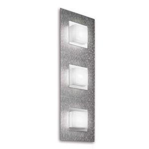 GROSSMANN Basic LED nástěnné světlo, 3zdr hliník