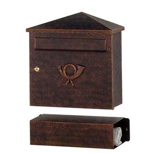 Poštovní schránka Lucio, hnědá-zlatá patina
