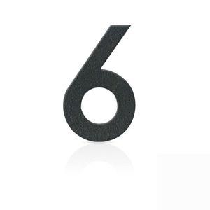 Nerezová domovní čísla číslice 6, grafit šedý