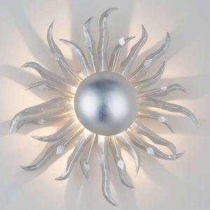 Nástěnné světlo Slunce Ø 45 cm stříbrné