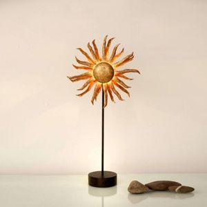 Stolní lampa LED Slunce zlatá