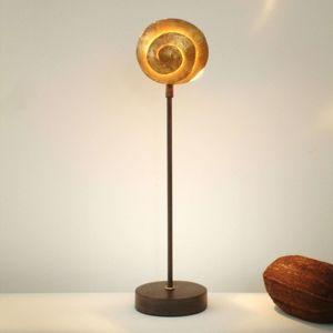Stolní lampa Šnek zlatý ze železa
