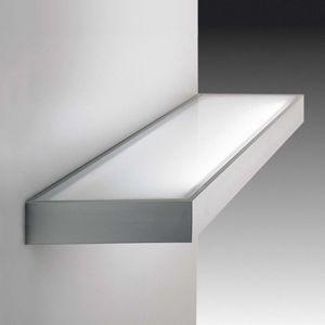 Dekorativní skleněné regálové světlo nerez 60 cm