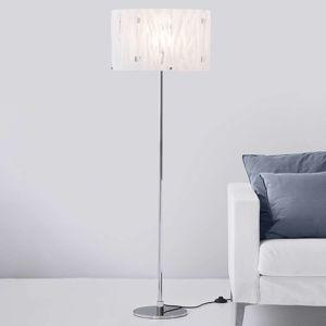 Stojací lampa Grass s bílým akrylovým stínidlem