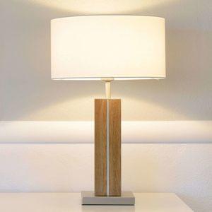 HerzBlut Dana stolní lampa, dub olej výška 56 cm