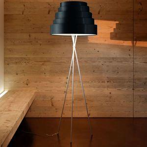 Stojací lampa Babel, třínohá, stínidlo černé