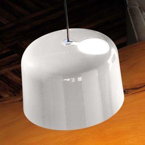 Bílé lesklé keramické závěsné světlo Add
