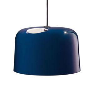 Modré lesklé keramické závěsné světlo Add