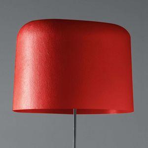Stojací lampa Ola sklolaminátové stínidlo, červená