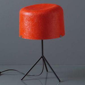 Stolní lampa Ola skleněná vlákna červená 53cm vys