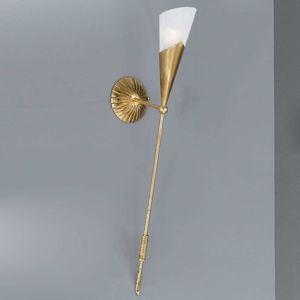 Zlatě zbarvená nástěnná pochodeň RICARDA