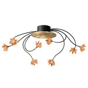 Stropní světlo Fiorella 8zdrojové jantarové