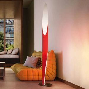 Kundalini Shakti stojací lampa chromovaná, červená