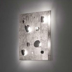 Knikerboker Buchi nástěnné světlo 60x60cm stříbro