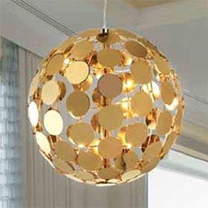 Závěsné světlo Sfera, D 50 cm ve zlatém vzhledu