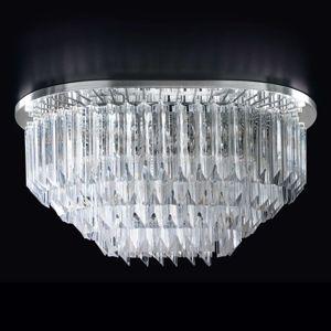 Stropní světlo Cristalli 65x48cm, chrom